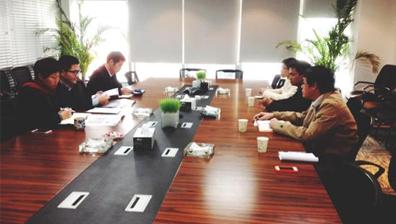 思明平臺與北大工學院一起走訪德潤集團進行項目對接洽談
