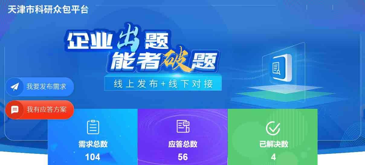 天津科研眾包揭榜機制,推動高校科技成果向社會流動
