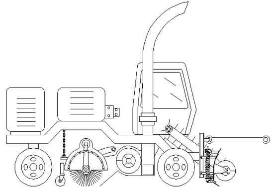 自行走装载除雪机