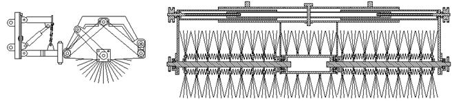 伸缩滚刷结构示意图