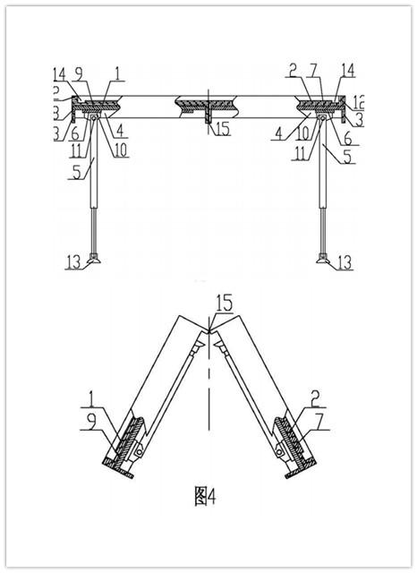 可折叠式便携抗震麻将桌