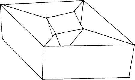 十字隔层菱形盒的折叠方法