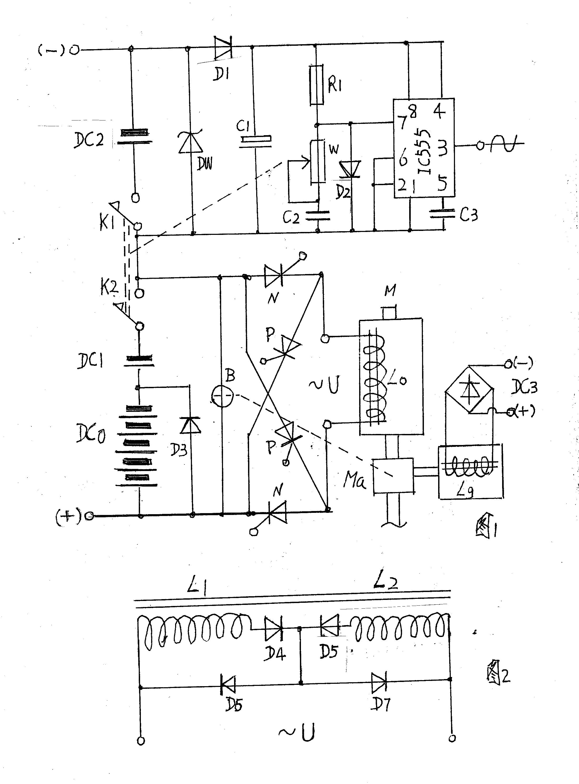 一种可使电动车辆自发电充电的驱动电源装置附图