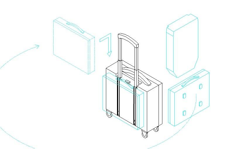 卡槽式拉杆箱图1