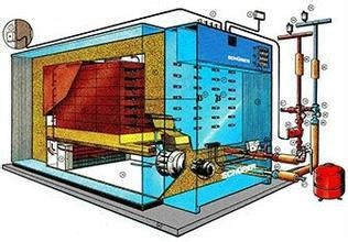 一种电发热固体蓄热自动控制换热装置