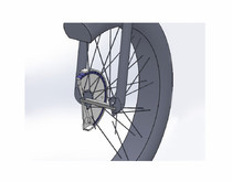 一种自行车超低速无刷感应发电装置