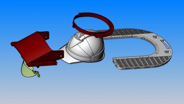 多功能防护帽主要零件爆炸图