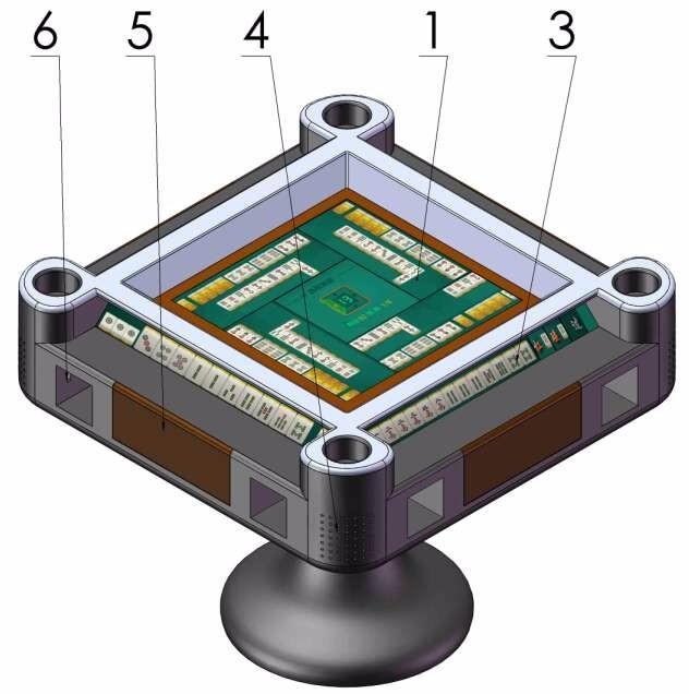 一种电子桌面棋牌机(第三代麻将机)设计图1
