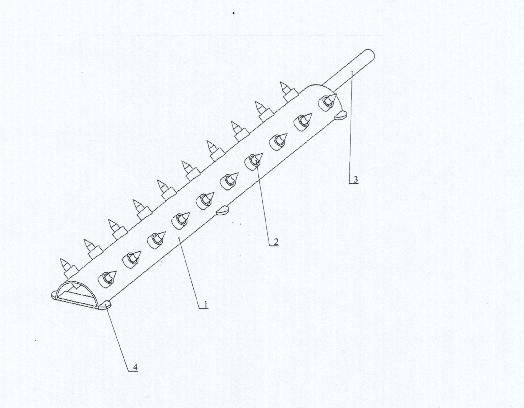 手持式刺胎放气路障轴测图