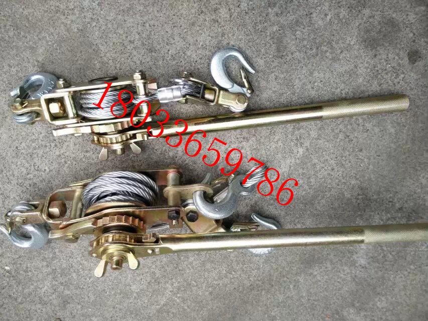 钢索棘轮紧线器P2000电力电工拉线紧绳器钢索棘轮荷缔机手扳葫芦