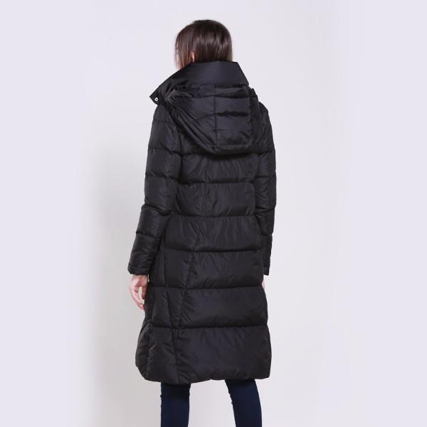 加长款立领连帽加厚防寒保暖羽绒服代工