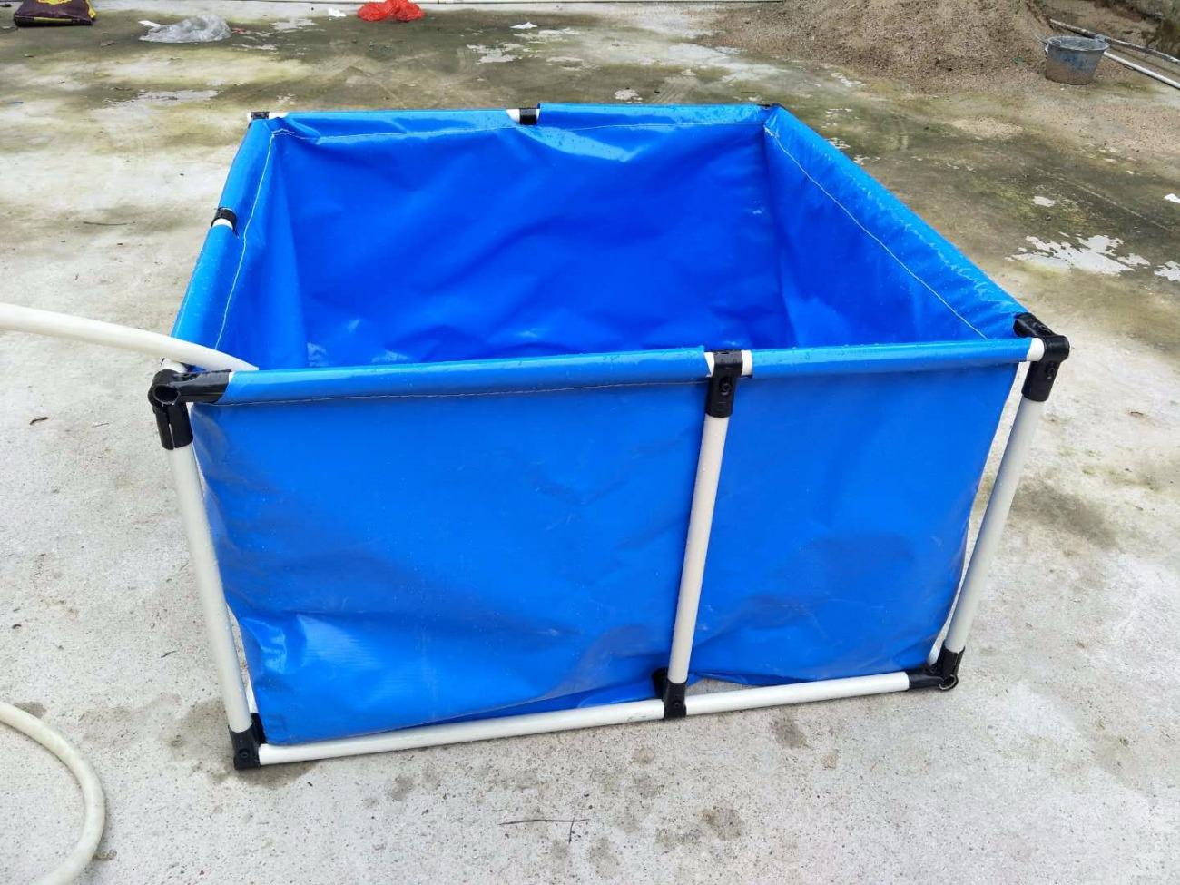 储水池帆布水池圆形鱼池养虾固定储水池防漏水篷布鱼缸池鱼箱