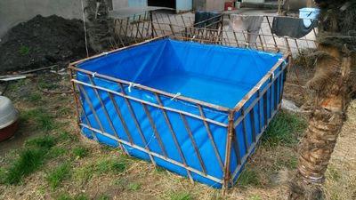 生产篷布鱼池水池厂家 帆布易折叠水池价格 帆布定做养殖鱼池好吗