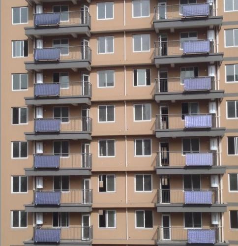 珠海众乐太阳能、平板阳台壁挂式蓝膜集热器