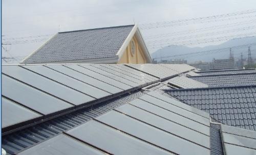 珠海众乐太阳能、 别墅平板太阳能中央热水系统