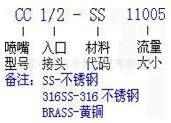 CC扇形喷嘴、广东扇形喷头|喷咀生产商