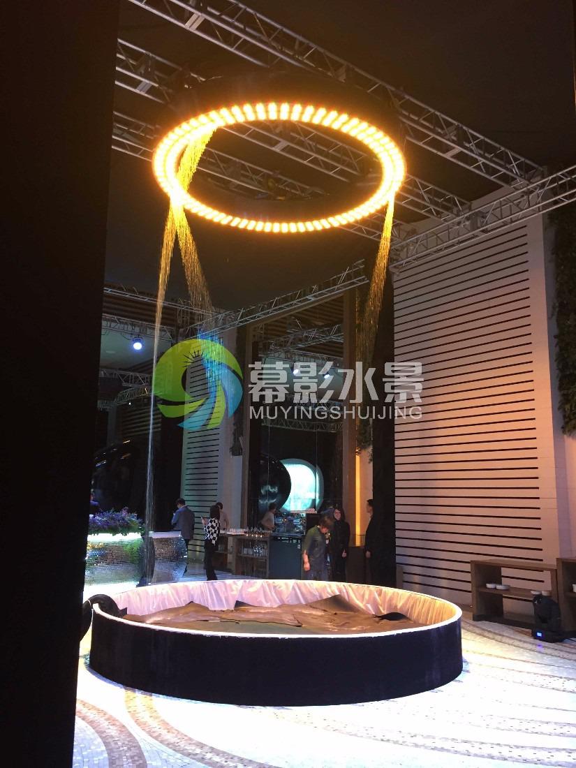 幕影水景,数字水幕适用于公司会议、车展、商业