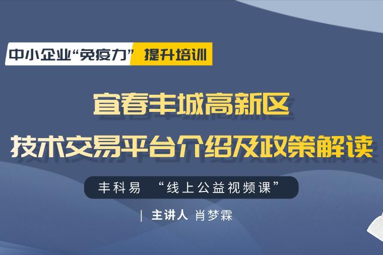 宜春丰城高新区技术交易平台介绍及政策解读